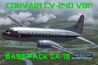 Screenshot of Convair CV-240 VBF CA-18 in flight.