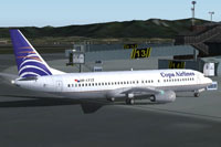 Screenshot of Copa Airlines Boeing 737-400 on the ground.