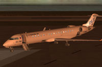 Screenshot of Corporate Jet Bombardier CRJ-700 on the ground.