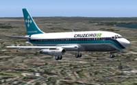 Screenshot of Cruzeiro Boeing 737-200 in flight.