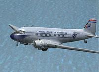 Screenshot of Cubana Douglas DC-3/C-47 in flight.