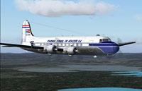 Screenshot of Cubana Douglas DC-4 in flight.