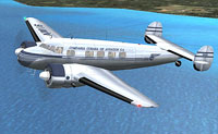 Screenshot of Cubana Lockheed L-10 Electra in flight.