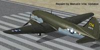 Screenshot of Curtiss C-46 Commando Updated Textures on runway.