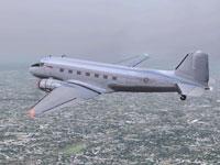 Screenshot of DC-3 ACOF-BB Centennial Aircraft in flight.
