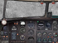 Screenshot of DC-3 panel covered in ice.