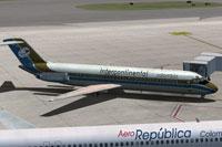 Screenshot of Intercontinental de Aviacion Douglas DC-9-30 on the ground.