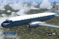 Screenshot of DFG Convair CV-240 in flight.