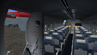 Screenshot of DHC Dash 7 passenger cabin.