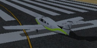 Screenshot of Dac Airways Piper Arrow on runway.