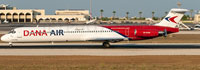 Image of Dana Air McDonnell Douglas MD-82 on the ground.