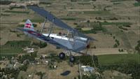 Screenshot of Danish DeHavilland Gipsy Moth in flight.