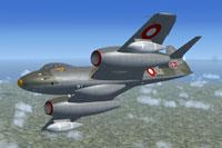 Screenshot of Danish Meteor F8 in flight.