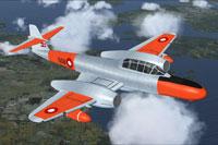 Screenshot of Danish Meteor NF11 in flight.