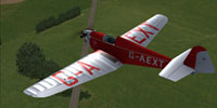 Screenshot of Dart Kitten II G-AEXT in flight.