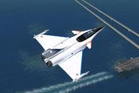 Screenshot of Dassault Rafale in flight.