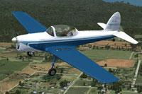 Screenshot of De Havilland Chipmunk CF-JAG in flight.