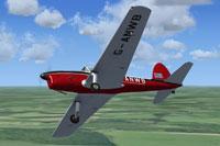Screenshot of De Havilland Chipmunk G-ANWB in flight.