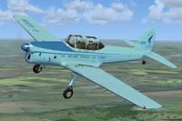 Screenshot of De Havilland Chipmunk G-AORW in flight.