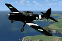 Screenshot of De Havilland Chipmunk G-APLO in flight.
