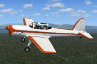 Screenshot of De Havilland Chipmunk N26JH in flight.