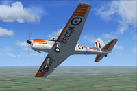 Screenshot of De Havilland Chipmunk WG362 in flight.
