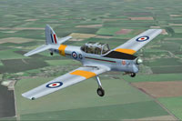 Screenshot of De Havilland Chipmunk WK574 in flight.