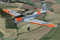 Screenshot of De Havilland Chipmunk WK628 in flight.