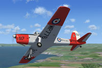 Screenshot of De Havilland Chipmunk WP776 in flight.