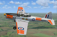 Screenshot of De Havilland Chipmunk WZ884 in flight.