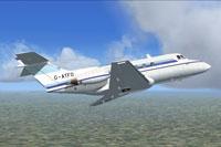 Screenshot of De Havilland DH125 in flight.