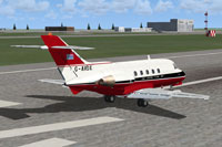 Screenshot of De Havilland DH125 on runway.