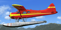 Screenshot of DeHavilland Beaver C-FFHZ with floats.