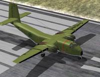 Screenshot of DeHavilland C-7 Caribou on runway.