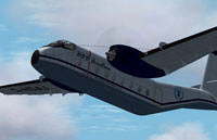 Screenshot of DeHavilland C-7 Caribou in flight.