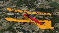 Screenshot of DeHavilland Cirrus Moth G-CAUA in flight.