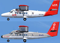 Image showing two repaints of the DeHavilland DHC-6-300.