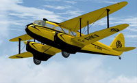 Screenshot of DeHavilland DH.89A Rapide in flight.