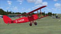 Screenshot of DeHavilland Gipsy Moth G-AADR in flight.