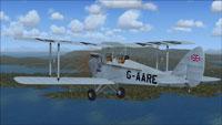 Screenshot of DeHavilland Gipsy Moth G-AARB in flight.