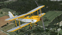 Screenshot of DeHavilland Gipsy Moth NC236K in flight.