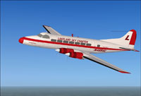 Screenshot of 'Lakeland Sky Charter' DeHavilland Heron in flight.