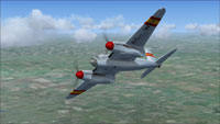 Screenshot of DeHavilland Mosquito EC-WKH in flight.