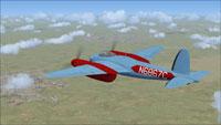 Screenshot of DeHavilland Mosquito N6867C in flight.