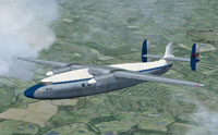 Screenshot of Decca Ambassador G-ALZP in flight.