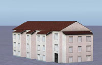 Object representing an apartment building.