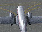 Screenshot of Default DC-3 taxiing to runway.