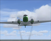 Screenshot of Douglas DC-3 in flight.