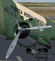 Screenshot of Default Douglas DC-3 with white tips.