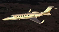 Screenshot of Learjet 45 in flight.